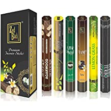 Aroma Premium Fragrance Sticks - Pack of 6 - Serene and Enthralling 120 Incense Sticks – Feel the Natural Fragrances with Scented Oil Sticks