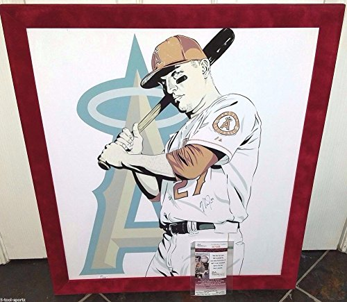 - Mike Trout 2 X Al Mvp Autographed Framed Stretched Canvas JSA Authentic Angels Mlb Photo