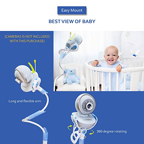20% Off ! $15.99 Only! EasyMount Universal Baby Monitor Mount, Infant Video Monitor Holder and Shelf, Fit for Most Baby Cameras, Monitors, Flexible Camera Stand and Bendy Arm for Best View of Baby by MoonyBaby (Image #3)