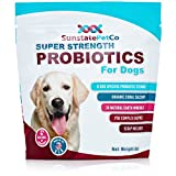 Sunstate Pet Co. Super Strength, All in One Probiotics Supplement for Dogs with 8 Canine Specific Probiotic Strains & Organic Coral Calcium | Allergen & Chemical Free | Made in the USA
