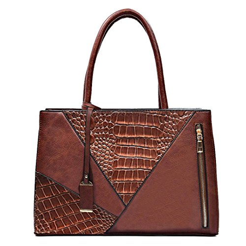 Office Ladies Handbag Women Brown Over Briefcase Designer Female Khaki Bag Bag Shoulder Leather Tote Large A4 PU Serpentine For aZZfq