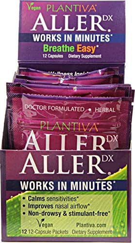 AllerDx Carton of 12-12-Count Packets - Fast Acting Plant-Based Allergy-Season Formula - Breathe Easy in 10-20 mins*