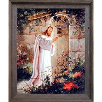 Amazon Com Jesus Christ Knocking At The Door Religious