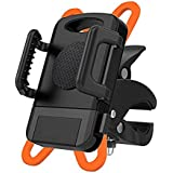 Bike/Motorcycle Cell Phone Mount Holder,Universal for iPhone 7/7 Plus,Samsung Galaxy S7/S7 and Other Smartphones & GPS - Universal ATV, Mountain, City & Road Bicycle Handlebar Holder Black