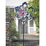 Metal Garden Flower Stakes Spinner Purple, 88 Inches - 110309008. 22.2 in. L x 9.1 in. W x 69.1 in. H
