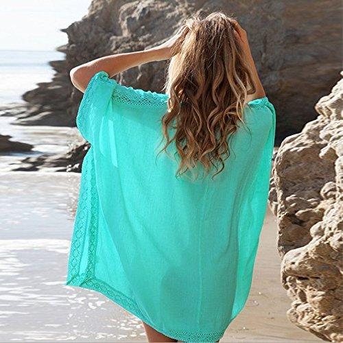 Bikini Cover Up, gloednApple Women Swimsuit Beach Top Swimwear Beach Dress Bathing Suit Cover Summer (Green)