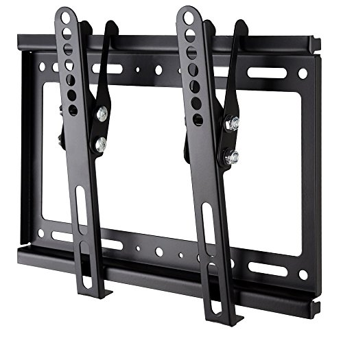 LWL TV Wall Mount Ultra Slim Tilt Articulating TV Mount Bracket for VESA 200x200 200x100 14-42 32 39 40 42 inch VESA LED OLED Plasma Flat Screen monitor Slim Tilt TV Wall Mount Bracket Bedroom 55lbs