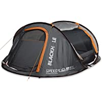 Explore Planet Earth Speedy Blackhole 4 Person Pop Up Tent with LED Lights