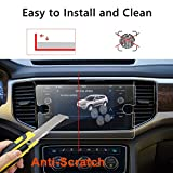 LFOTPP 2018 Volkswagen Atlas 8 Inch Tempered Glass Car Navigation Screen Protector, [9H] Infotainment Screen Center Touchscreen Protector Anti Scratch High Clarity
