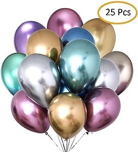 Metallic Balloons Party Balloons Birthday Balloons Chrome...