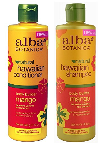 (Alba Botanica, natural Hawaiian Shampoo and Conditioner, Mango, 12-Ounce Bottle)