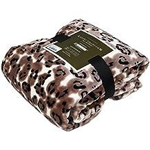 Luxury Collection Ultra Soft Plush Fleece Lightweight All-Season Throw/Bed Blanket (Queen, Legend Leopard)