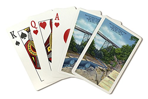 Watkins Glen, NY - State Park View of NY Central RR Bridge, Jacob's Ladder (Playing Card Deck - 52 Card Poker Size with Jokers)