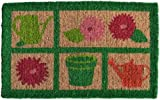 Imports Decor Printed Coir Doormat, Garden Tools, 18-Inch by 30-Inch