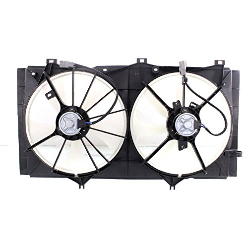 Radiator Fan Assembly Compatible with Toyota Camry 10-11/Toyota Venza 09-16 Dual Fan 2.5L/2.7L Eng.