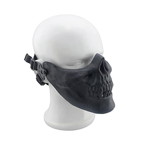 Amazon com : ShinefromCloud Skull Half Face Ghost Mask