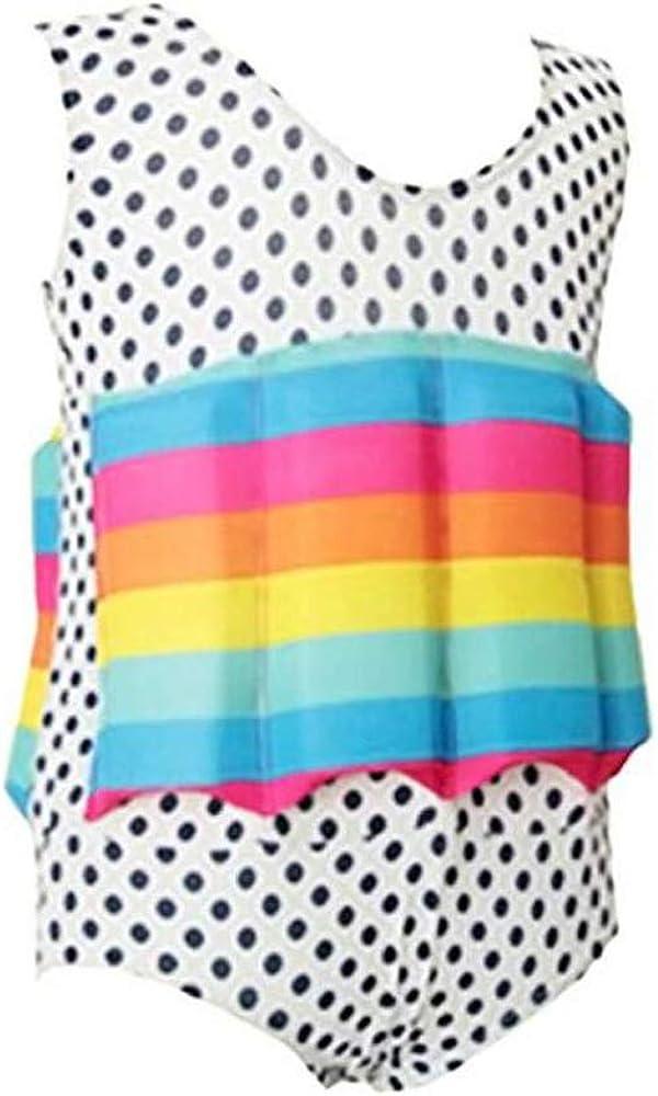Lazzon Kids Float Suit Baby Girls Boys Floating Swimwear One Piece Adjustable Buoyancy Training Vest Swimming Pool Beachwear 1-6 Year
