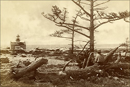 Point Pinos Lighthouse - 24x36 Poster; Point Pinos Lighthouse California 1871