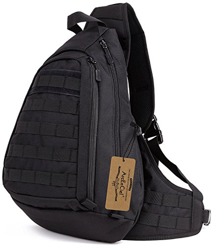 ArcEnCiel Tactical Military Sling Chest Pack Bag Molle Daypack Backpack Large Shoulder Bag Crossbody Heavy Duty Gear For Hunting Camping Trekking by ArcEnCiel
