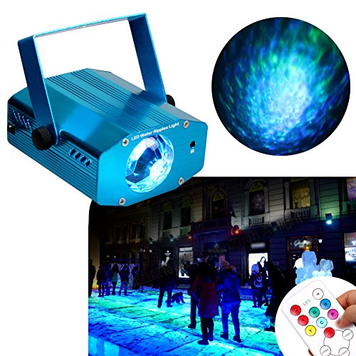 KOOT Water Ripple Light, 7 Colors Led Halloween Christmas Light Projector Water Wave Ripple Effect Lamp With Controller For Holiday Disco KTV Club (Halloween Party Do List)