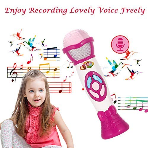 Lumiparty Kids Microphone Karaoke Microphone Machine, Music Microphone,Voice Changing and Recording Microphone with Colorful Lights, Best Toys for Kids Girls Toddlers.(Pink) by Lumiparty (Image #5)