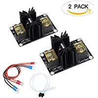 SIMPZIA Heat Bed Power Module General Add-on Hot Bed Power Module Expansion Board High Current Load Module Mos Tube Hotend Replacement with Cables for 3D Printer - 2 Pack
