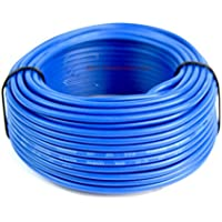 Audiopipe 50 Feet 18 Gauge Blue Primary Remote Wire Car Auto Power Cable