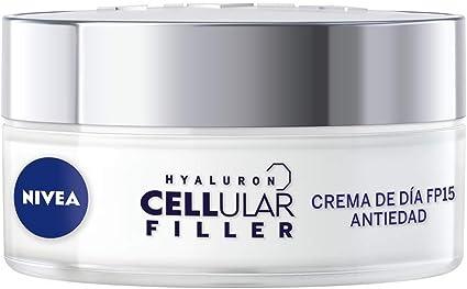 Oferta amazon: NIVEA Hyaluron Cellular Filler Cuidado de Día FP15 (1 x 50 ml), crema antiarrugas con ácido hialurónico, crema antiedad, crema reafirmante para la renovación celular