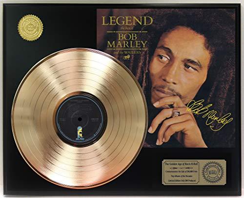 Bob Marley Legend Gold Lp Reproduction Signature Display C3