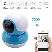 Home IP Camera, 720PHD Indoor Wireless Security Camera with Motion Detection, Pan/Tilt, Two Way Audio, Night Vision, Baby Monitor, Nanny Cam
