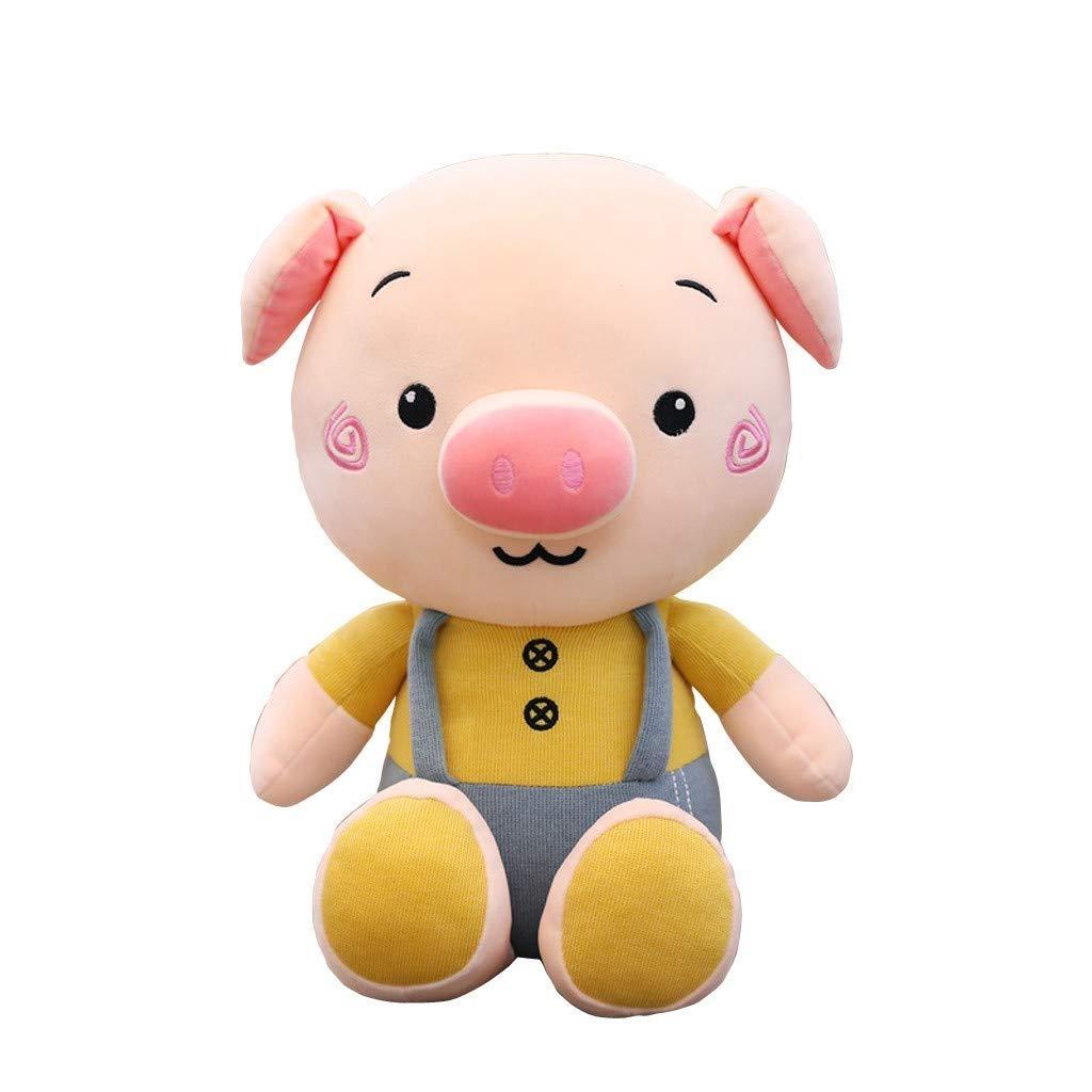 GJF Tragen Sie glückliches Schweinpuppe Plüschspielzeug faules Kissenpuppe nettes Mädchen, das Griffgeburtstagsgeschenkmädchen schläft GJF (Farbe : Gelb)