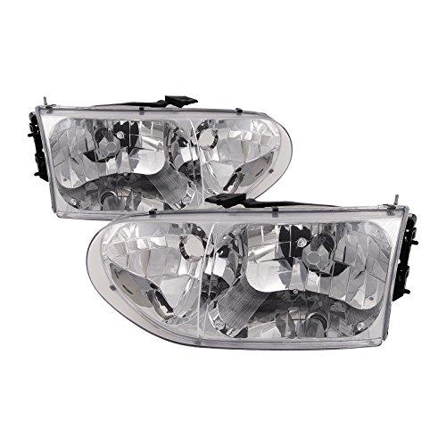 HEADLIGHTSDEPOT Compatible with Mercury Villager/Nissan Quest New Headlamps Set Headlights Pair
