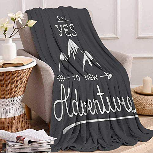 Flannel Luxury Blanket All Season Warm Fuzzy Plush Throw Blanket for Travel Couch Sofa,54