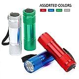 FASTPRO 20-pack Aluminum LED Flashlights Set with 60-piece...