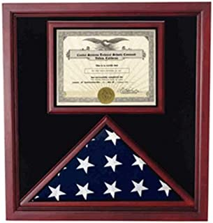 product image for flag connections Flag and Certificate Case, Flag Display Cases with Certificate