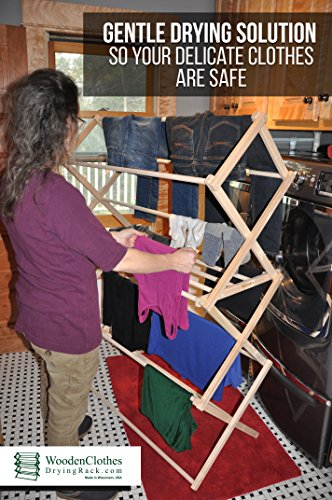 Large Wooden Clothes Drying Rack by Benson Wood Products by Benson Wood Products (Image #4)