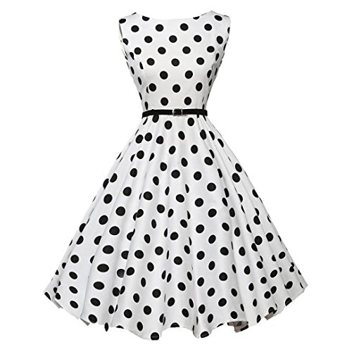 Smdoxi Sexy Dress Vintage 1950s Rockabilly Polka Dots