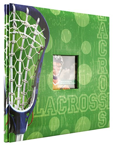 MCS MBI 12 by 12 Page , 13.2 x 12.5 Scrapbook Album-Lacrosse Theme