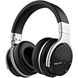 Electronics : Mighty Rock Active Noise Cancelling Headphones Over Ear Bluetooth Headphones Hi-Fi Deep Bass Wireless Headphones With Microphone Built-in and 30H Playtime for Travel