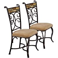 Slate Mosaic Finished Dining Chair - Set of 2