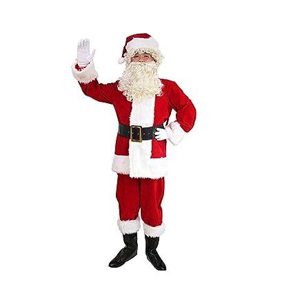 LW Traje De Papá Noel para Hombre, Traje De Santa De 10 Pzs ...