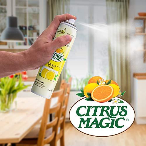 Citrus Magic Natural Odor Eliminating Air Freshener Spray, Fresh Orange, 3-Ounce, Pack of 3