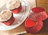 Fox Run 6979 Red Foil Bake Cups, Standard