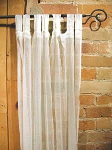 Amazon Com White Sheer 100 Cotton Gauze Tab Curtain 44
