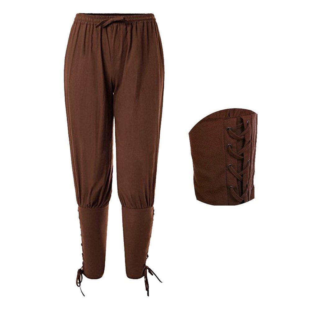 fengduo Hombres Medievales Pantalon Corto Retro Victoriano Pantalones Renacimiento Disfraz de Pirata Vikingos Étnico Capri Pantalon para Halloween ...
