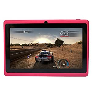 Yuntab 7 inch Google Android Tablet PC Wifi 8GB Q88 Quad Core 1024x600 Resolution Dual Camera Google Play Pre-loaded 3D Game, Rosy