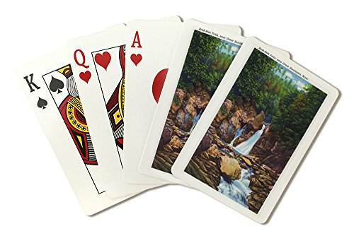 Berkshire Mountains, MA - View of Bash-Bish Falls near Great Barrington (Playing Card Deck - 52 Card Poker Size with Jokers)