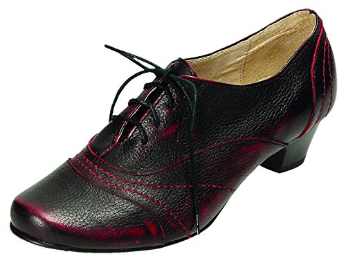 MICCOS Shoes Schnürschuhe D.Pumps Dunkelbordo