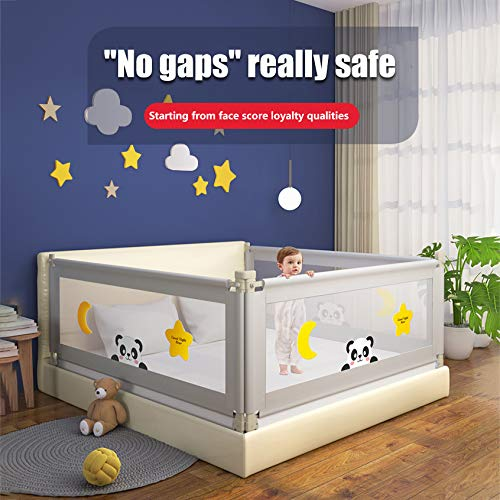 Adjustable Bed Rails for Toddlers, Vertical Lifting Bed Guardrail, Extra Long Safety Baby Bed Rail for Large Bed & Double Bed (59 inch)