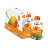 Plum Organics Stage 1, Organic Baby Food, Just Mangos, 3.5 ounce pouch (Pack of 12)